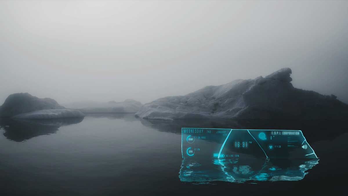 Glass Shards Rainmeter 2