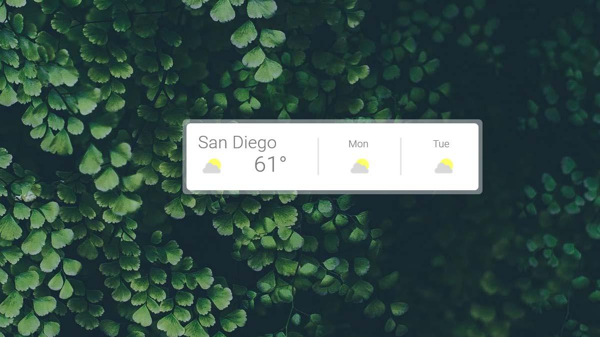 google weather rainmeter skin