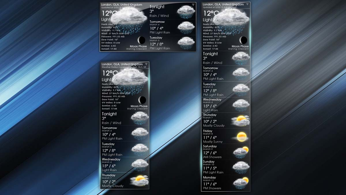 VClouds Weather Rainmeter Skin