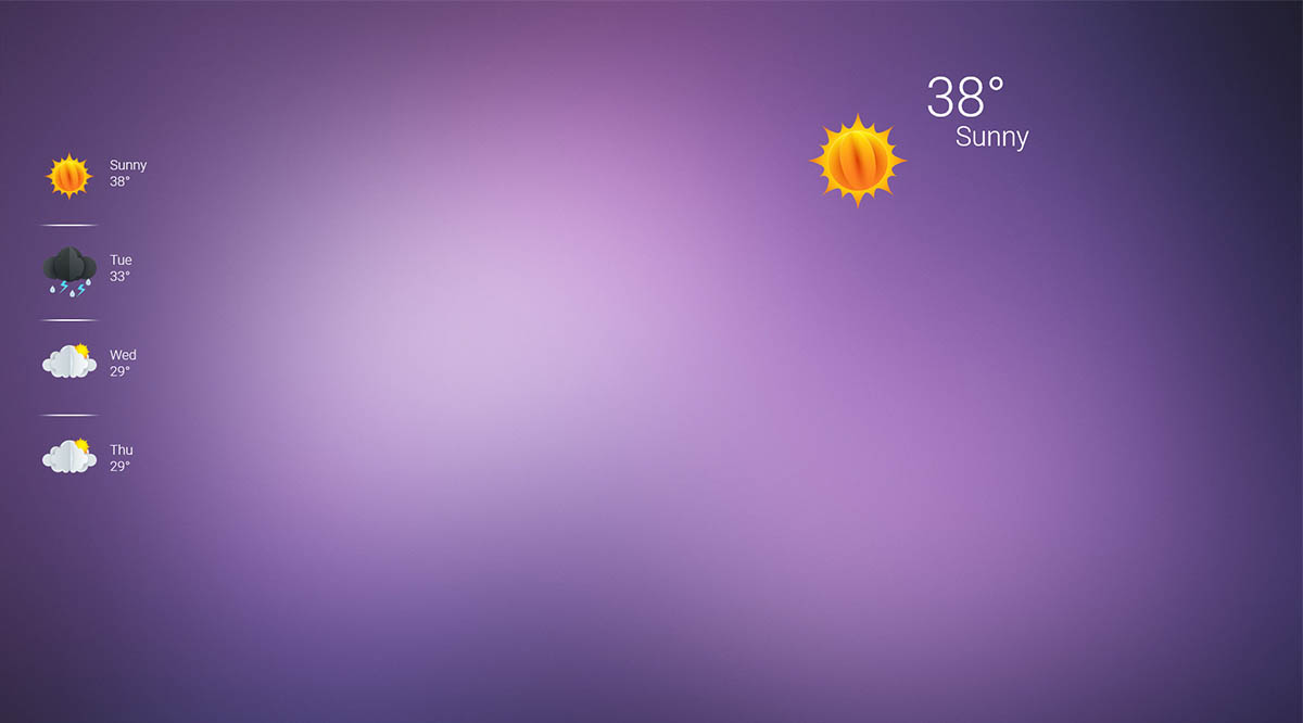 weather icons gradient background