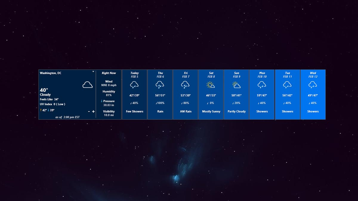 weather rainmeter black background